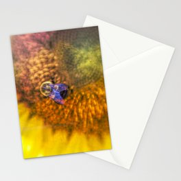 Bold Sunflower with Bumblebee Stationery Cards