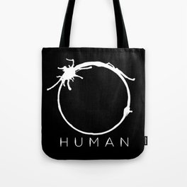 Arrival - Human with title Tote Bag
