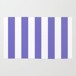 Violet-blue (Crayola) - solid color - white vertical lines pattern Rug