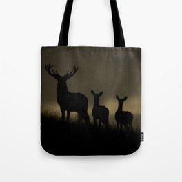 Red Deer at dawn Tote Bag