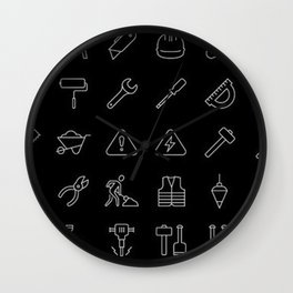 Tools Icons Wall Clock