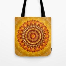 Mandala bright yellow Tote Bag