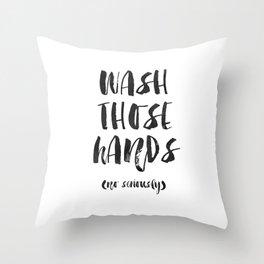 WASH THOSE HANDS Bathroom Wall Decor Bathroom sign Shower Decor Bathroom Rule Nursery Print Nursery Throw Pillow