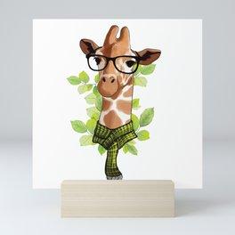 Hipster Giraffe Mini Art Print