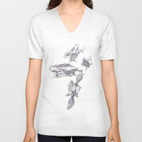 ninja turtles V-neck T-shirts featuring Ninja Turtles by MrDenmac