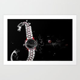 Time in a Space Continuum Art Print
