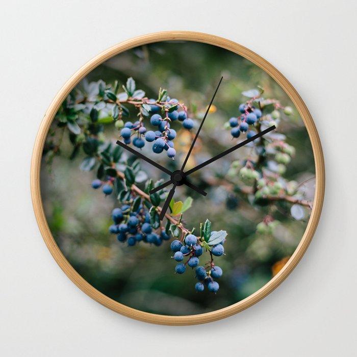 Spring Blueberries // California Wall Clock