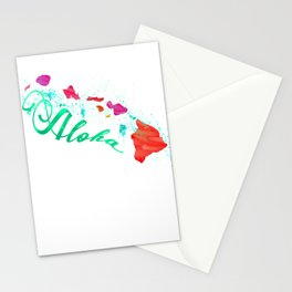 Aloha Island Splash Stationery Cards