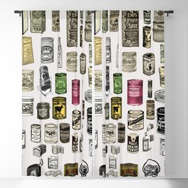 Vintage Victorian food cans Blackout Curtain