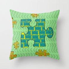 Puzzle Throw Pillow