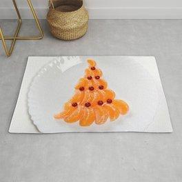 Photos New year Mandarine Christmas tree Food Plat Rug