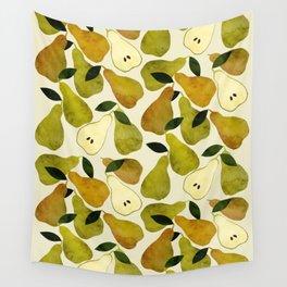 mediterranean pears watercolor Wall Tapestry