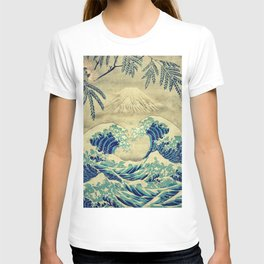 The Great Blue Embrace at Yama T-shirt