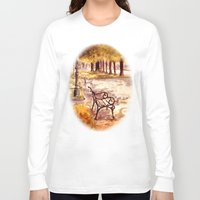 vienna Long Sleeve T-shirts featuring Ringstrasse in Vienna by Vargamari