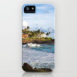 Surfers in Poipu iPhone Case