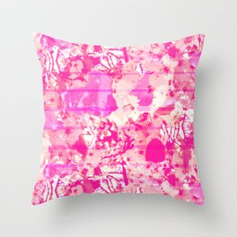 Cherry Bomb Stripe Throw Pillow