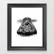 Fuming Crow Framed Art Print