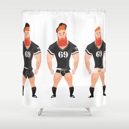 Stripping # IVO CARALHACTUS Shower Curtain