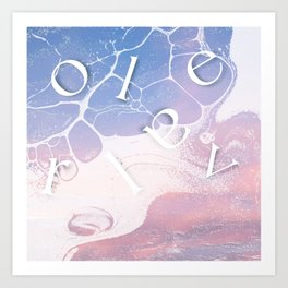 letters washed up Art Print