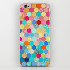 Patterned Honeycomb Patchwork in Jewel Colors iPhone & iPod Skin