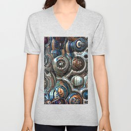 Reflections of Blue And Copper Unisex V-Neck