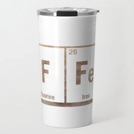 Natural coffee science periodic table Travel Mug