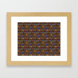 Kawaii Hanukkah Framed Art Print