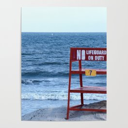 No Lifeguard on Duty Poster
