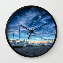 Sleeping Boats Wall Clock