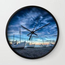 Sleeping Boats Wall Clock