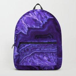 Ultra Violet Agate Mineral Gemstone Backpack