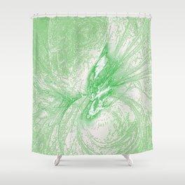 Splatter in Limeade  Shower Curtain