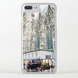Horse Carriage Church Vienna Austria Clear iPhone Case