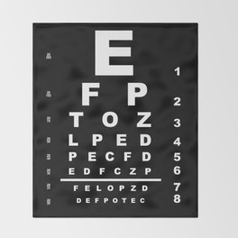 Inverted Eye Test Chart Throw Blanket