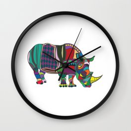 Abstract Rhino Wall Clock