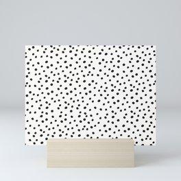 Black Polka dots minimalistic print Mini Art Print