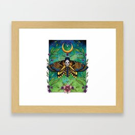 Neo Traditional Deaths-head moth Framed Art Print