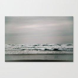 Waves Crashing on Cannon Beach Oregon Canvas Print