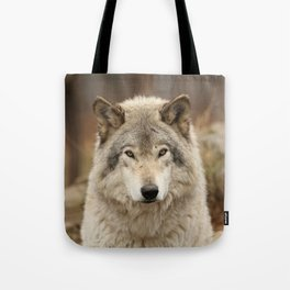 Autumn Timber Wolf Tote Bag