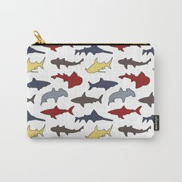Nautical Sharks Carry-All Pouch