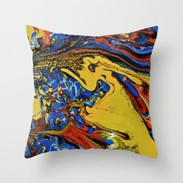 Color Explosion 7 Throw Pillow