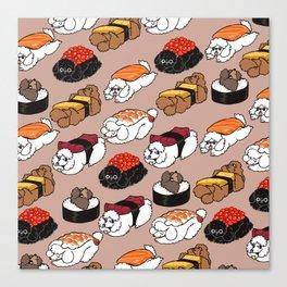 Sushi Poodle Canvas Print