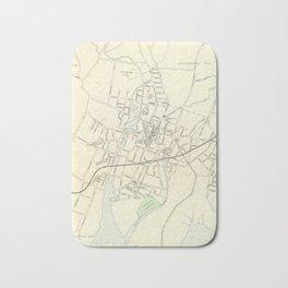 Vintage Map of Stamford CT (1893) Bath Mat