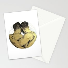 The Pair - NOODDOODs (gold doesn't print shiny) Stationery Cards