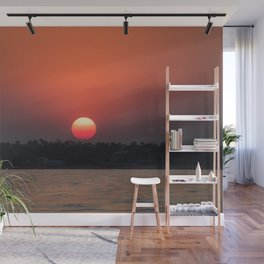Really red sun Wall Mural