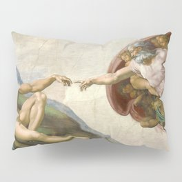 Michelangelo - Creation of Adam Pillow Sham