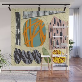 Abstract color stone Wall Mural