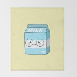 Kawaii Milk Throw Blanket