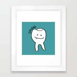 Snaggle Tooth Framed Art Print