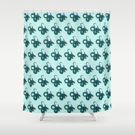 Funky dragons Shower Curtain